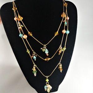 Premier Designs Multi-colored Gold Necklace